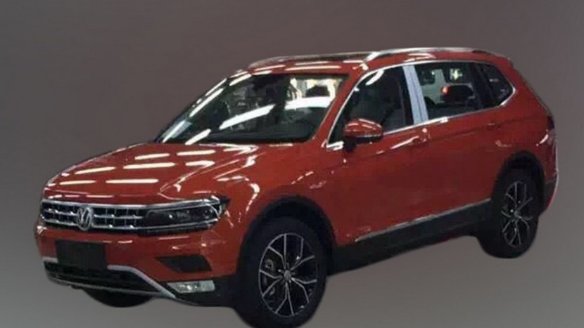 VW Tiguan XL spionat în China