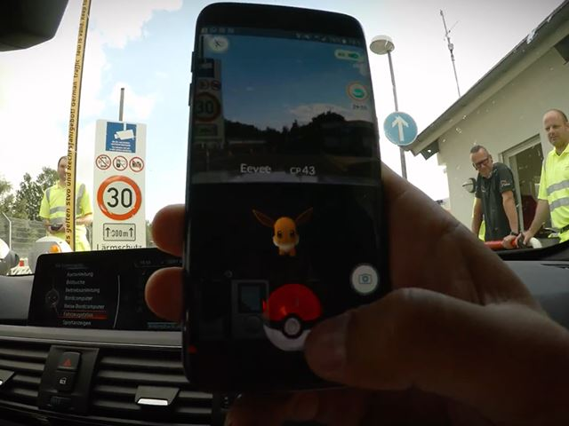 Hunting Pokémon on the Nürburgring with Ring Taxi