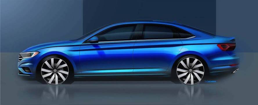 VW reveals new 2019 Jetta details and sketches
