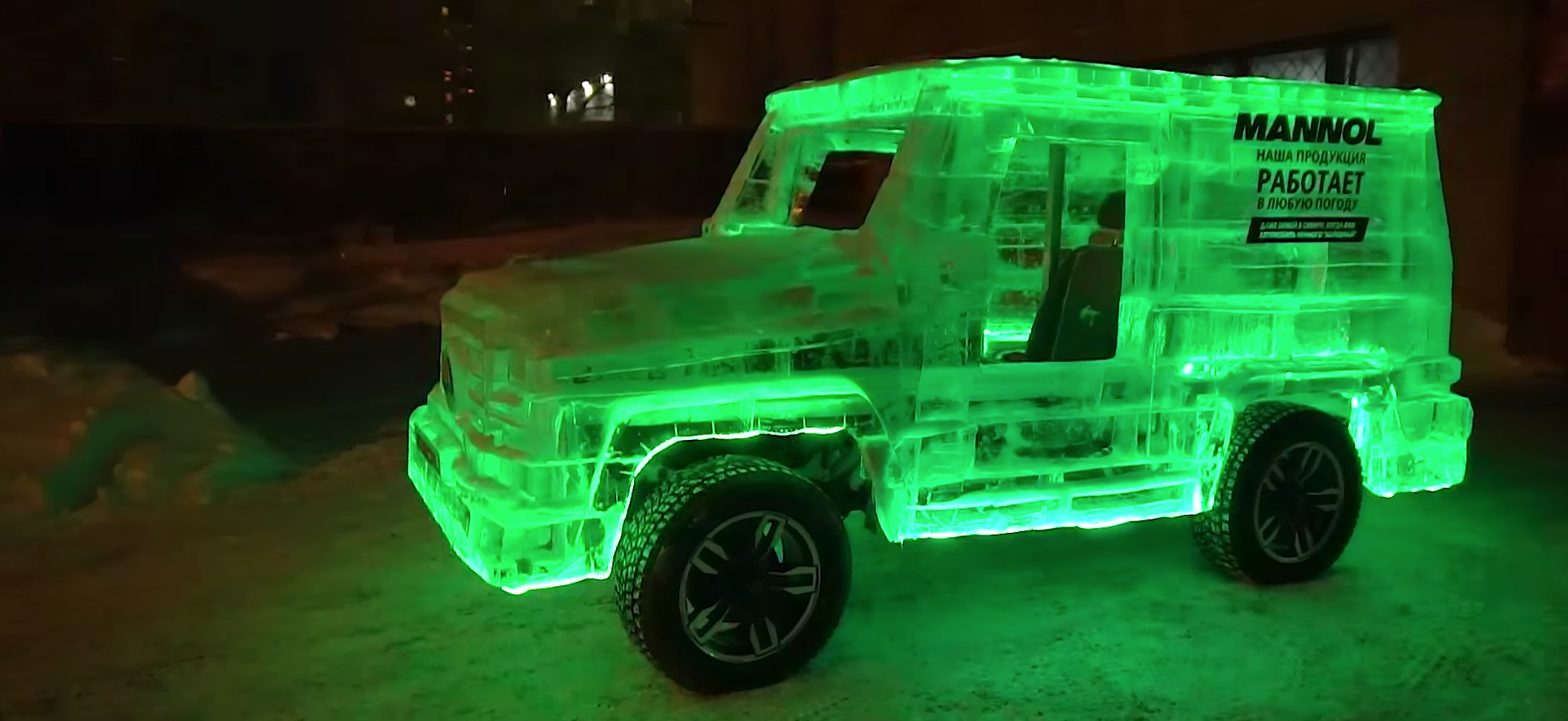 Siberian tuners make Mercedes G-Class replica out of ice — and you can drive it