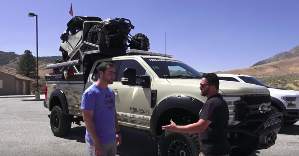 The Operator Is A Serious Ford F-350 Off-Road Menace
