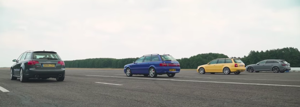 Four Generations Audi RS4 Meet For A Family Drag Race