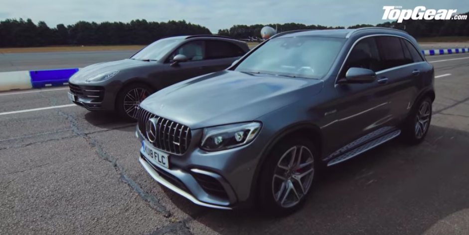 Mercedes-AMG GLC 63 S Bullies Porsche Macan PP On Drag Strip