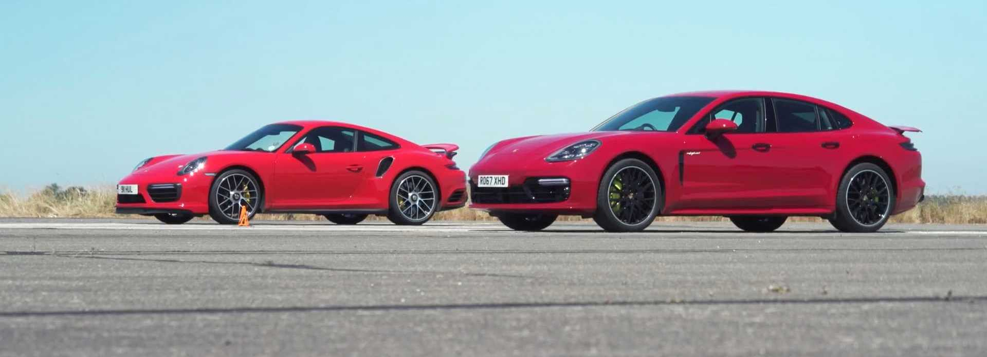 Porsche Panamera Turbo S E-Hybrid Drag Races The 911 Turbo S
