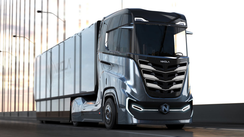 Nikola will unveil electric versions of two semi trucks in April