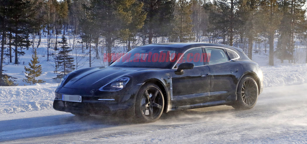 Porsche Taycan Sport Turismo electric wagon spied testing in Europe