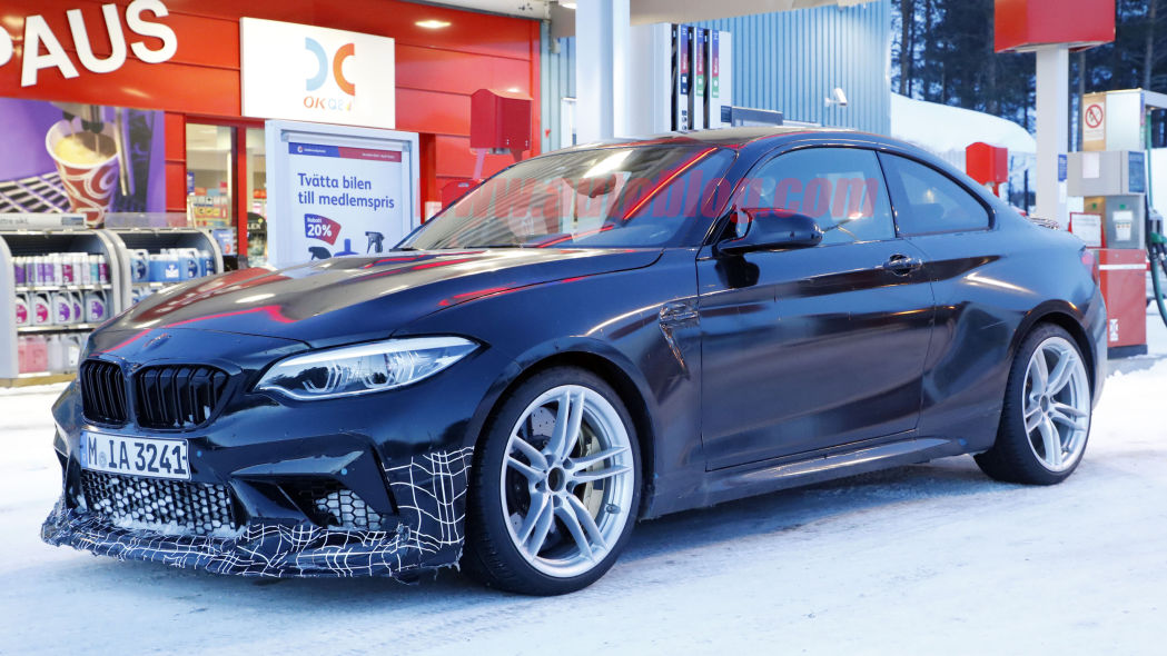 2020 BMW M2 CS spied up close in winter testing
