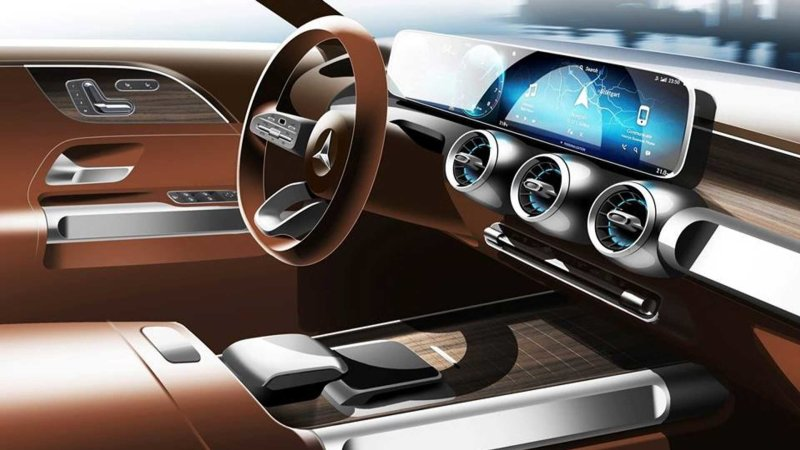 Mercedes GLB interior teased before concept debuts at Shanghai show