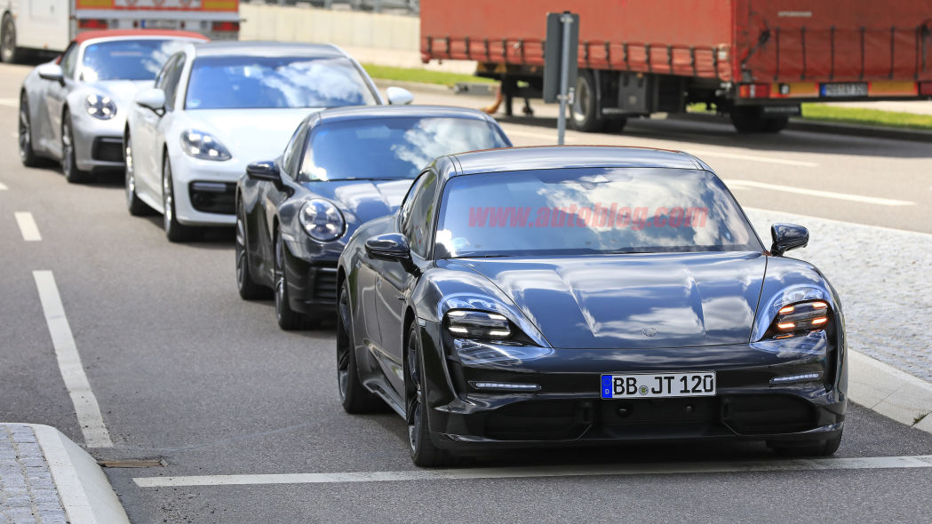Porsche Taycan shows differentiation with the Porsche family in new spy shots