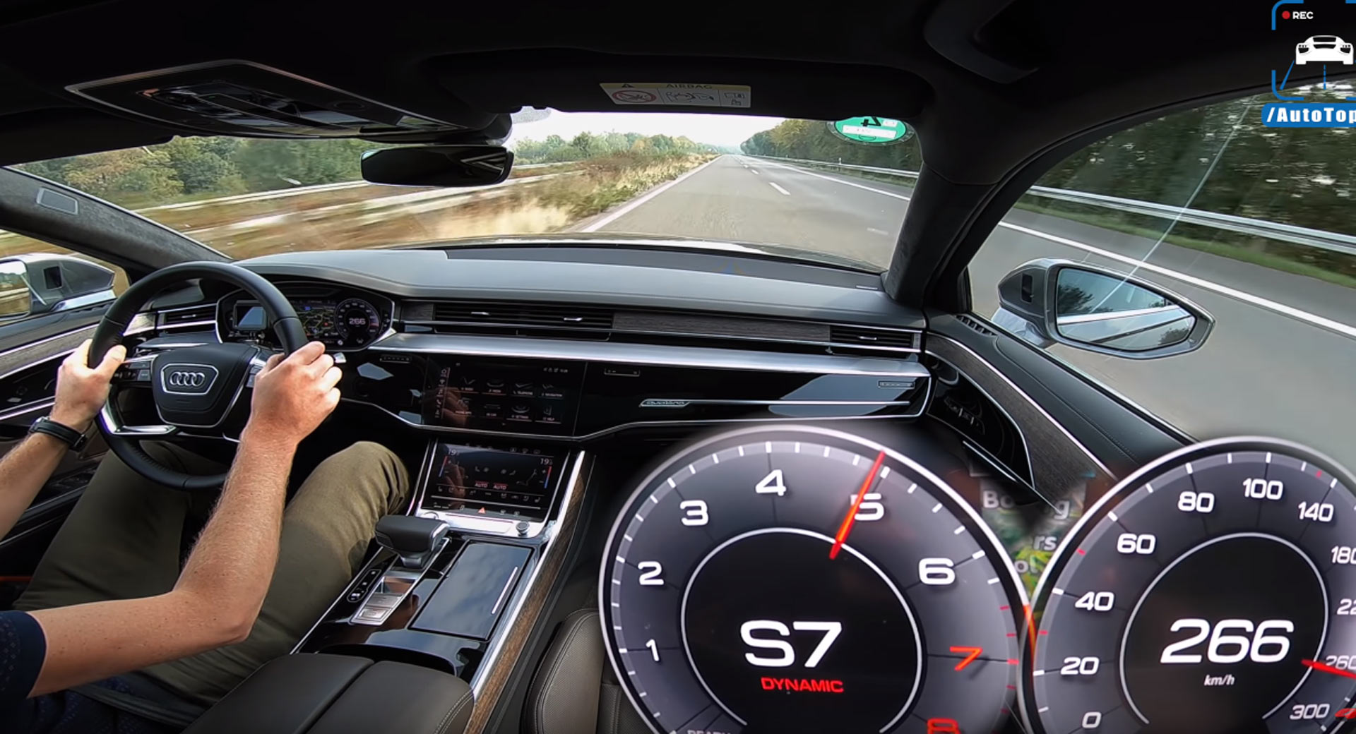 Audi A8 Ride Looks Silky Smooth At 166 MPH On Unrestricted Autobahn