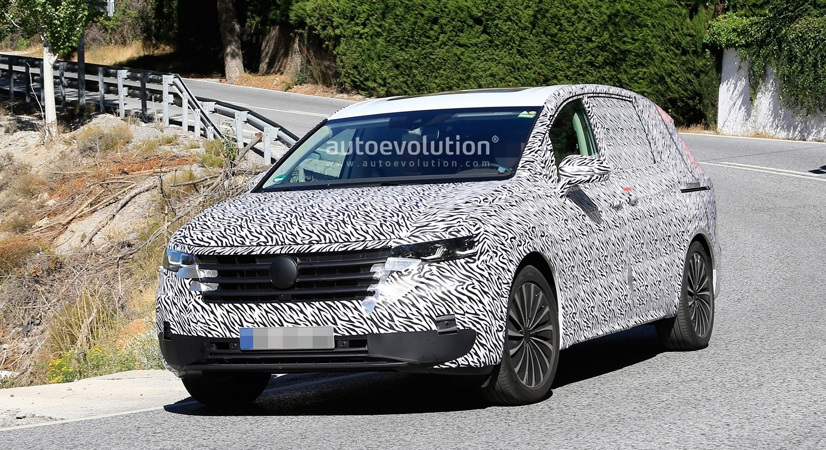Volkswagen Viloran Wears Full Camo for European Spyshots Debut