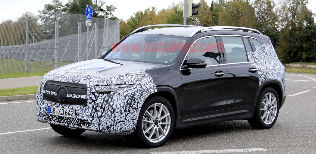 Mercedes EQB electric prototype spied on German roads