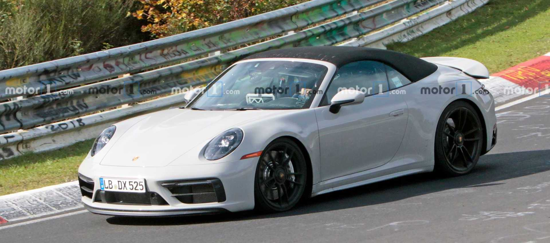 Porsche 911 GTS Cabriolet Spied Speeding Around The 'Ring
