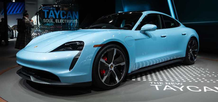 Porsche Taycan 4S Shows Up In LA, Shows Off Its Striking Blue Paint