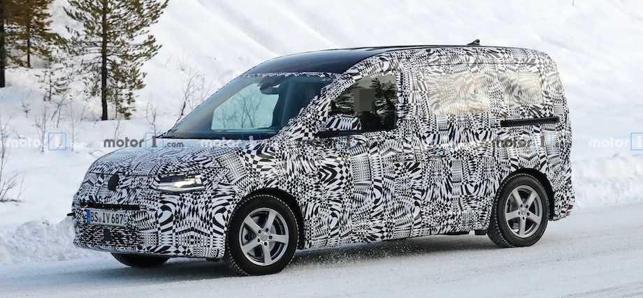 VW Caddy Spied Playing In The Snow Again