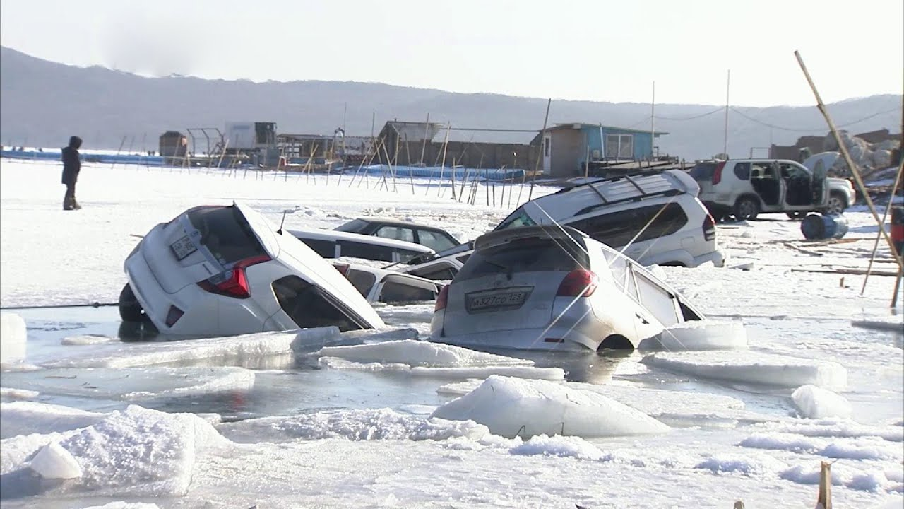 Gone Fishing: Dozens Of Cars Sink After Ice Cracks On Russian Bay