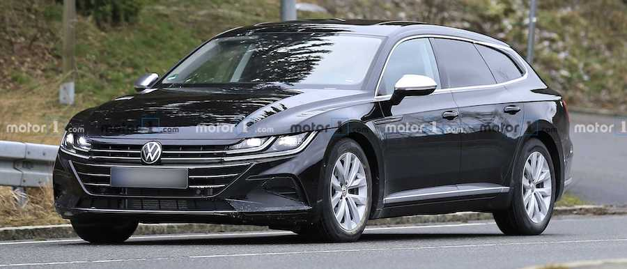 Volkswagen Arteon Wagon Spied With Hardly A Bit Of Camouflage