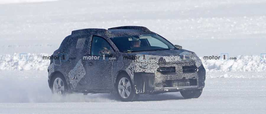 2021 Dacia Sandero Stepway And Logan Spied Dancing In The Snow