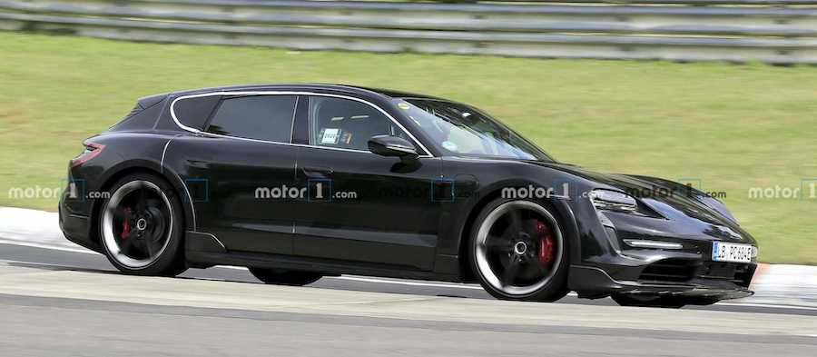 Porsche Taycan Cross Turismo Spied Almost Naked At The 'Ring