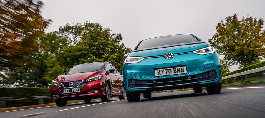 Volkswagen ID 3 vs Nissan Leaf: Battle for the EV top spot